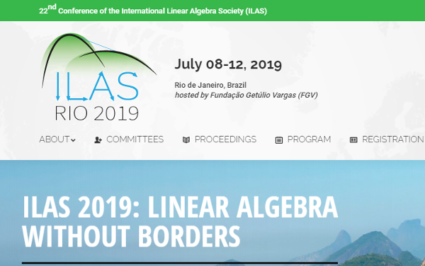22nd Conference of the International Linear Algebra Society (ILAS)
